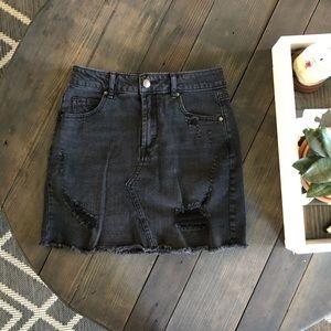 NWOT WildFable Black Jean skirt!